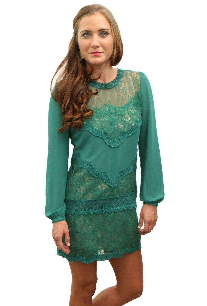 Green Lace Dress  www.wearwillow.com