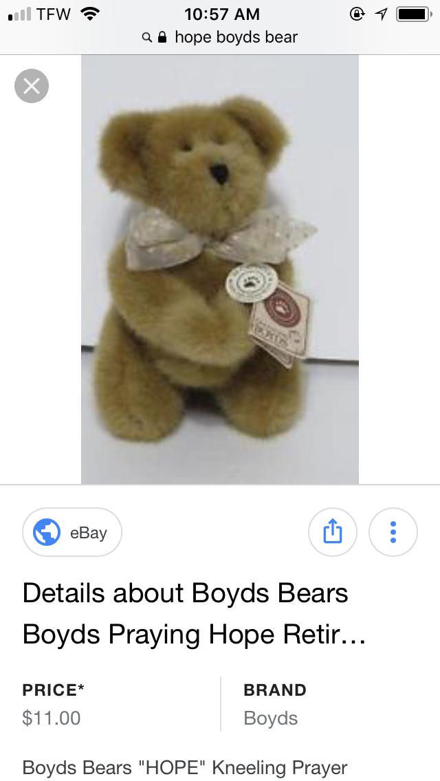 The Kneeling One Is Hope 903021 Boyd S Bear Boydsbear Teddybear With Images Teddy Bear Bear Boyds Bears