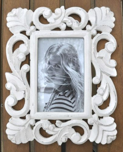 Hand Carved Wooden Picture Frame Approx 12 X 10 Antique White Finish Ebay Wood Picture Frames Hand Carved Wood Wooden Picture Frames