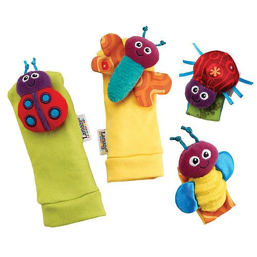Lamaze Foot Finder And Wrist Rattle Set Gardenbug Baby Sensory Toys Baby Toys Baby Toddler Toys