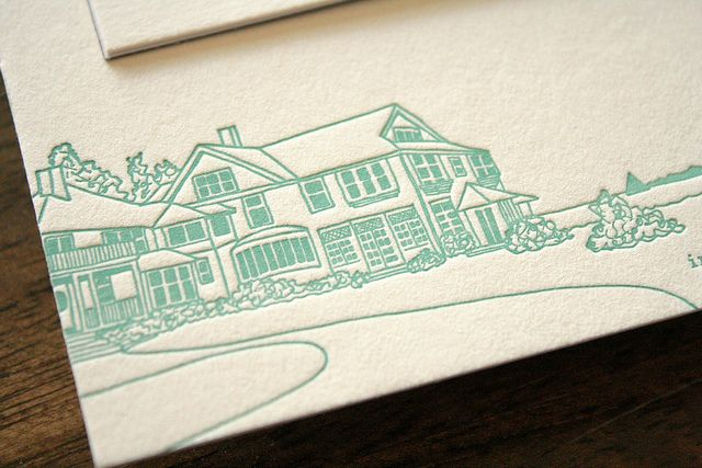 Ocean Inspired Letterpress Magnet Save the Date by Sarah Parrott, via Flickr