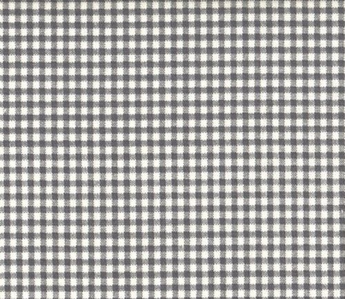 """French Country Gingham Check Brindle Gray 63"""" Rod Pocket"""