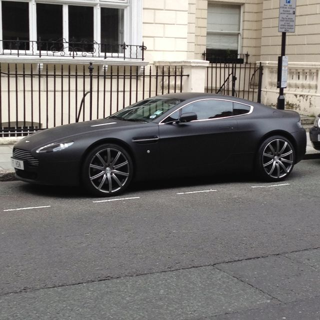Matte Black Aston Martin Vanquish. Photo Doesn't Really Do