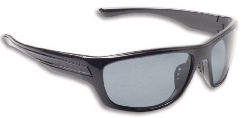 Fisherman Eyewear Striper Sunglass Black Frame Gray Polarized Lens ...