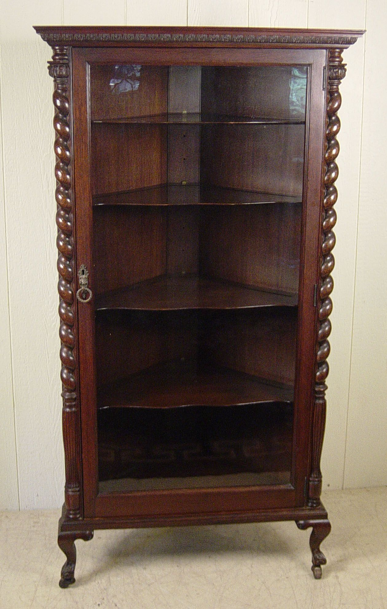 Oak Corner China Cabinet   I Just Love The Details!