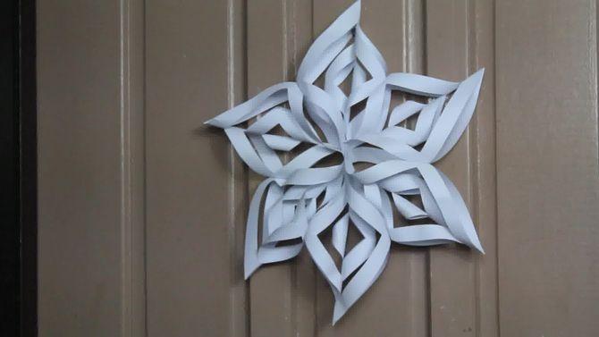 faire un flocon de neige en 3D en papier #floconsdeneigeenpapier