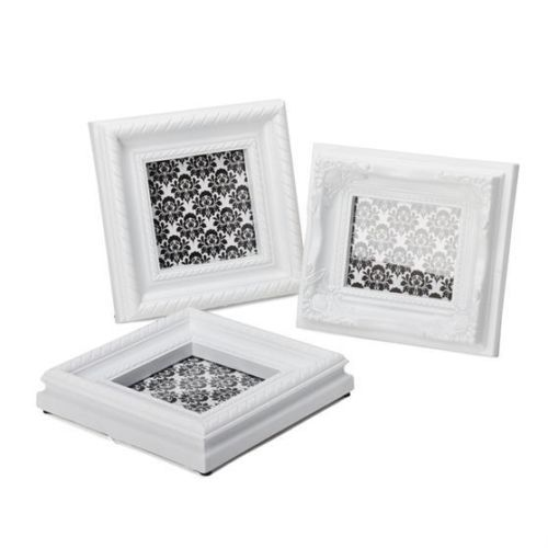 barock bilderrahmen weiss 3er set henzo bilder rahmen fotorahmen foto klassisch 9 95. Black Bedroom Furniture Sets. Home Design Ideas
