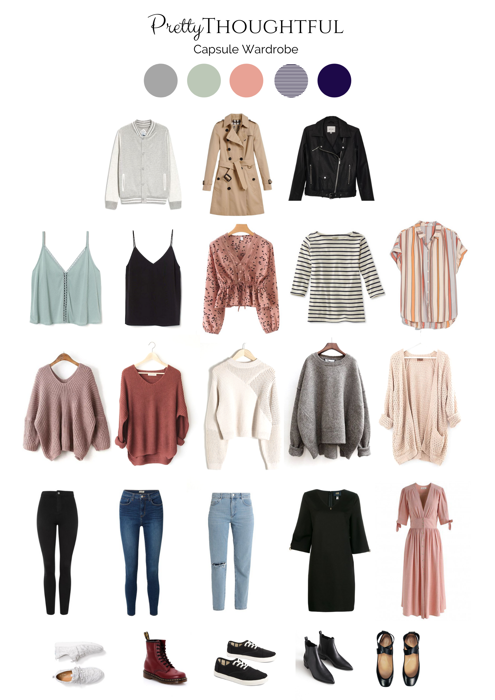 Pretty Thoughful Blog - Capsule wardrobe