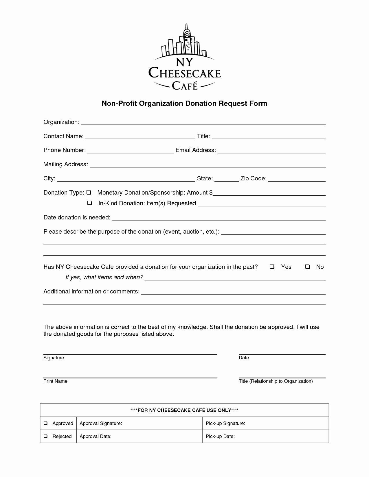 Donation Request form Template Unique Non Profit