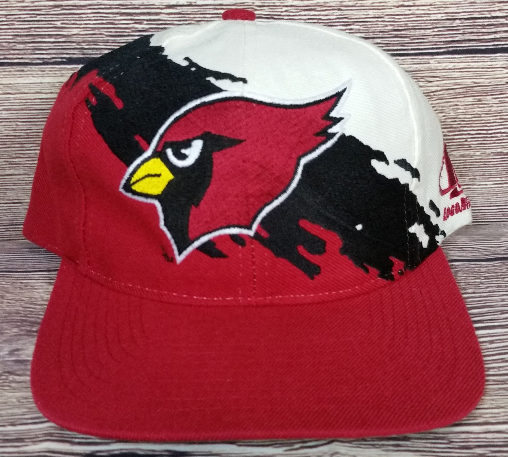 0964a02ce Arizona Cardinals Vintage Snapback Logo Athletic Splash Hat NFL Pro Line Cap  Rare