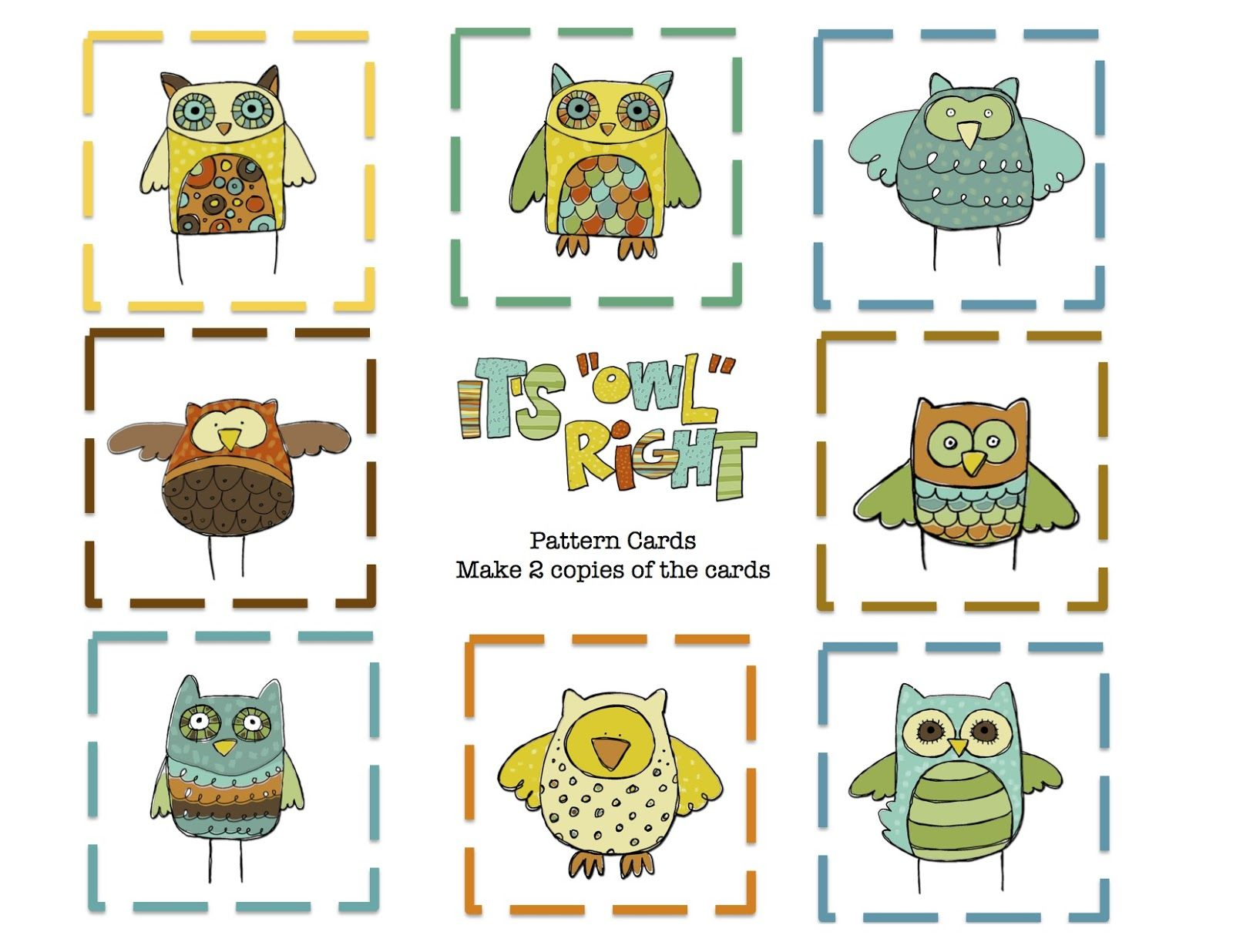 Preschool Printables Owls Pattern Card Printable