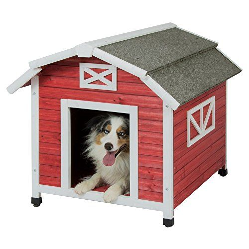 Precision Pet Old Red Barn Dog House For Dogs 50 70lbs