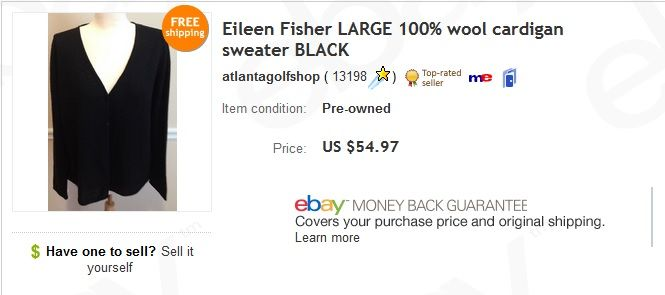 Eileen Fisher Sweater 5 At Goodwill Sold For 54 97 Things To