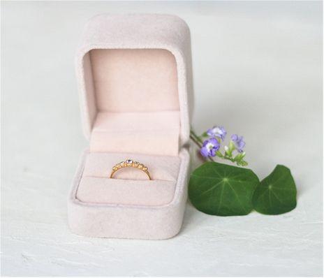 ShlomitOfir - 14k Gold Seven Stone Diamond Ring