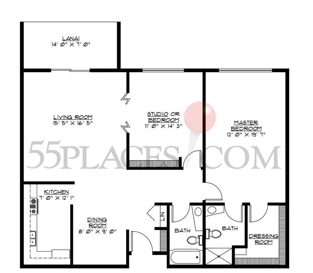 A Model Floorplan 1200 Sq Ft Windsor Gardens Floor Plans Floor Plan Layout Shed Plans
