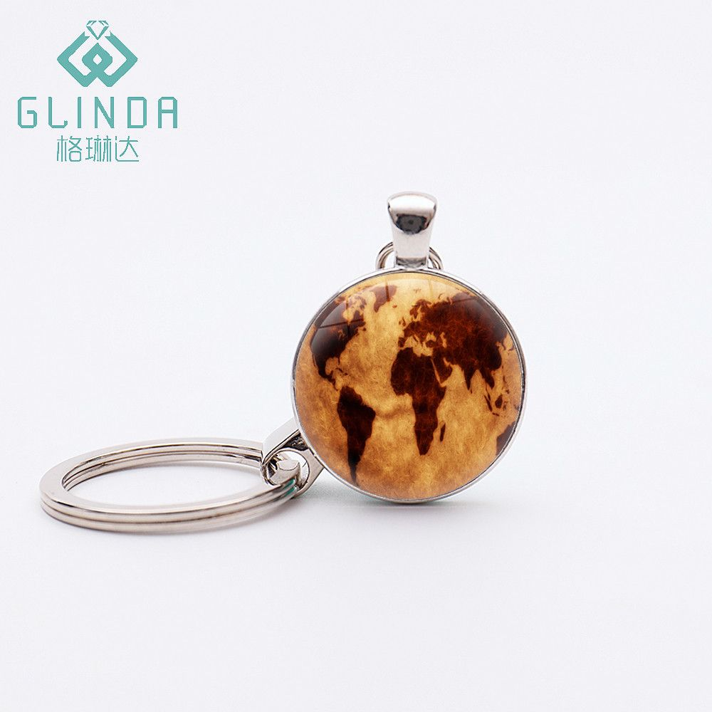 Glinda vintage globe keychains planet earth world map art silver glinda vintage globe keychains planet earth world map art silver plated pendant key chains key rings gumiabroncs Image collections