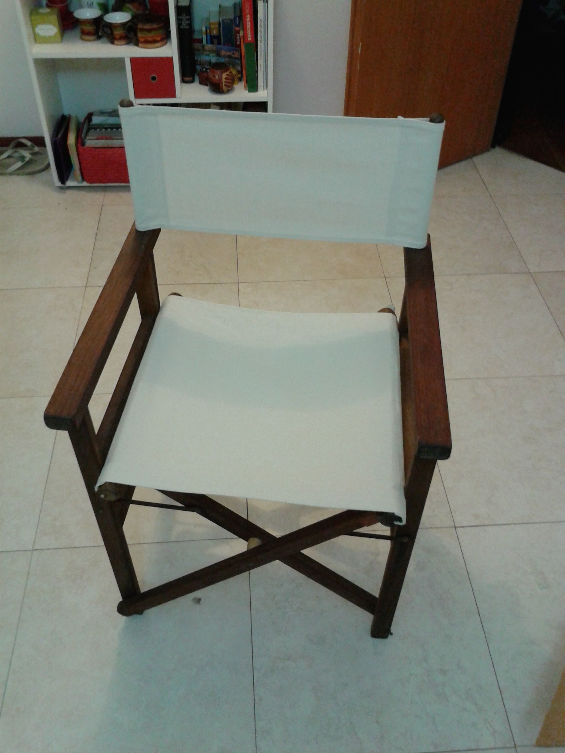 Silla director con lona natural
