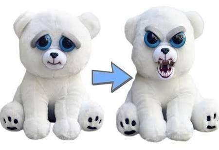 William Mark Feisty Pets Karl The Snarl Adorable 8 5 Quot Plush Stuffed Polar Bear That Turns Feisty With A S Polar Bear Plush Funny Toys Animal Plush Toys