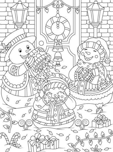 Comprehensive image in free printable holiday coloring pages