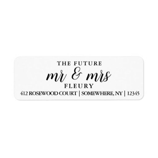 The Future Mr And Mrs Return Address Labels Small Zazzle Com Return Address Labels Wedding Address Labels Wedding Return Address Labels