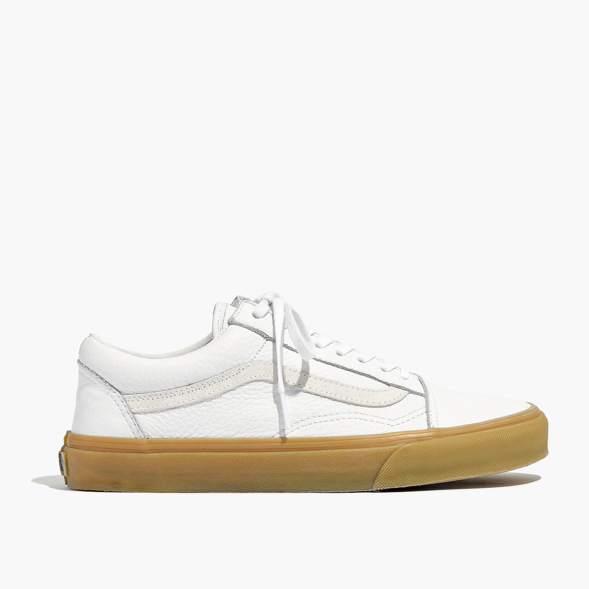 43d7e13c206 Madewell x Vans® Unisex Old Skool Lace-Up Sneakers in Tumbled Leather    sneakers
