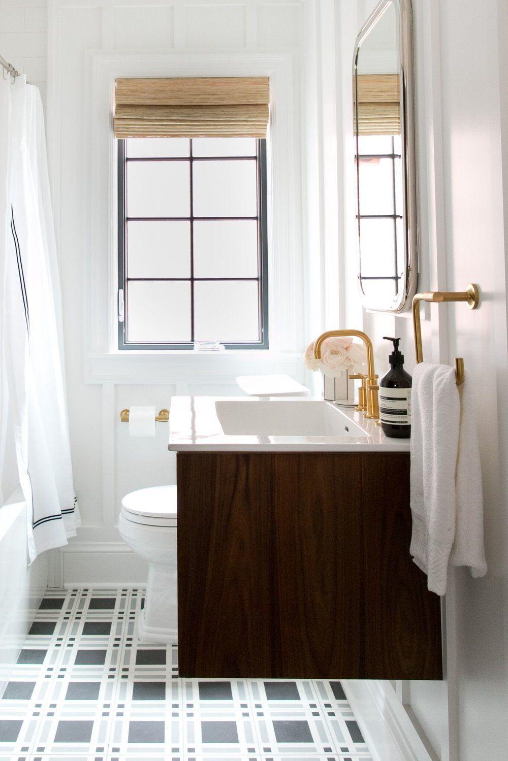 Denver Tudor Reveal | Floating vanity, Kids bath and Vanities