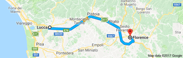 Distance Between Lucca And Florence 1 H 10 Min 55 4 Mi Italy