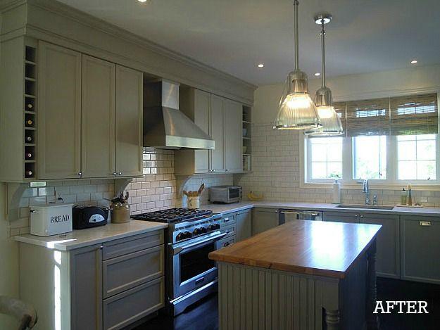 "A Builderbasic Kitchen Goes ""bedford Gray""  Gray Kitchens Amusing Basic Kitchen Cabinets Decorating Design"