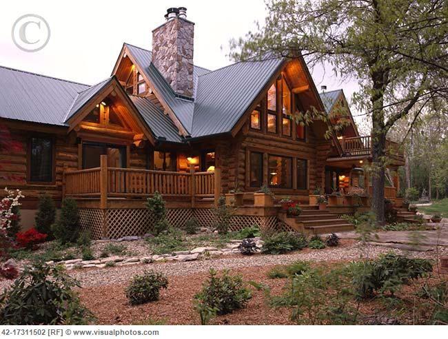 log home perfect Log Homes More Pinterest Logs Metal