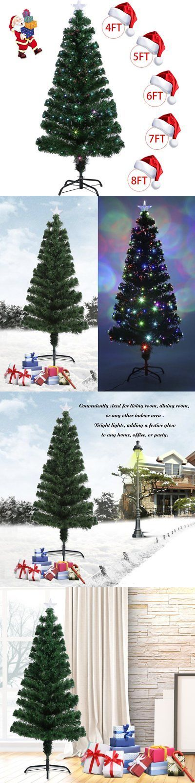 Artificial Christmas Trees 117414 5-8Ft Colorful Led Color Changing