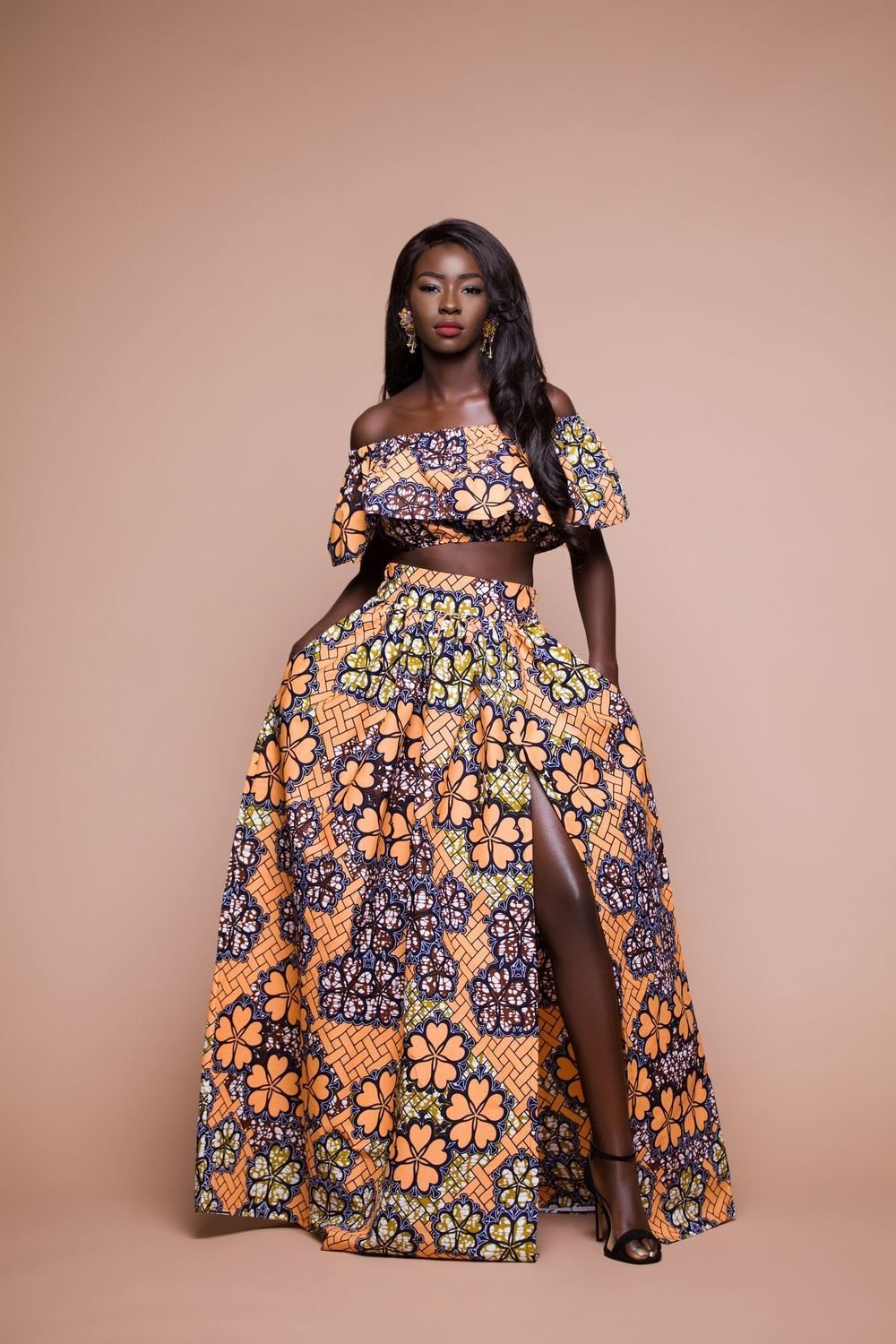 African print gatto maxi skirt ( limited)
