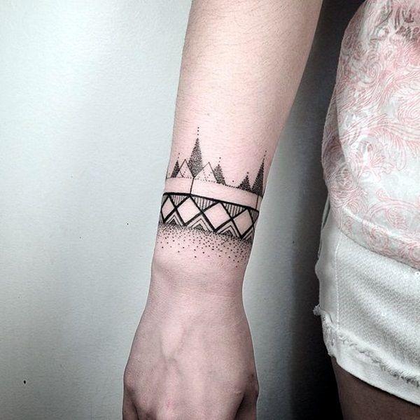 45 Masculine Armband Tattoo Designs For Men Wrist Tattoos For Guys Wrist Tattoos For Women Cool Wrist Tattoos