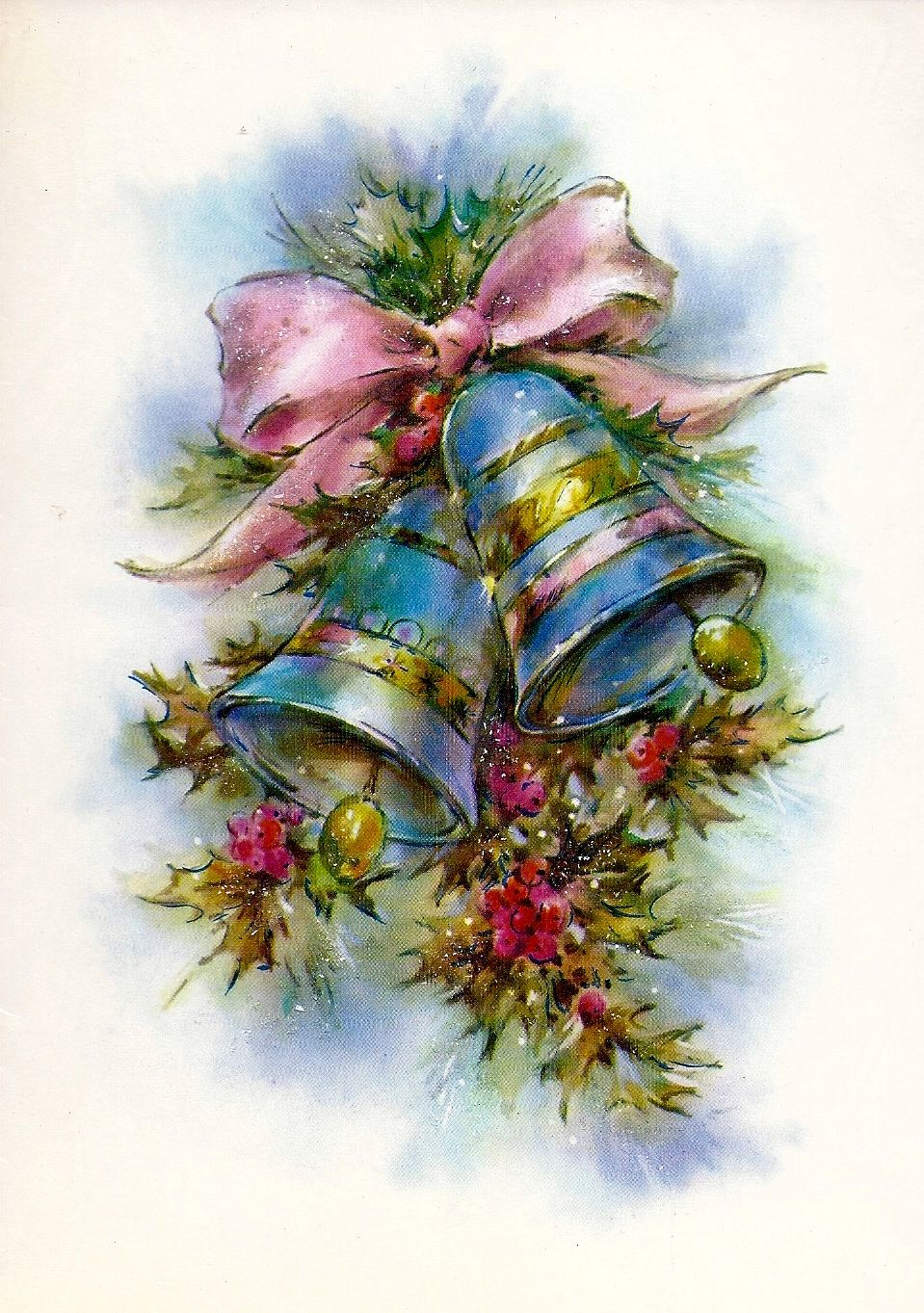 Фразы картинки, открытки с колокольчиками рождественскими