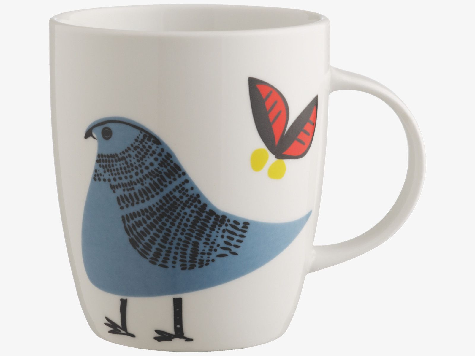 TIKI MULTI-COLOURED Porcelain Blue bird porcelain mug - HabitatUK
