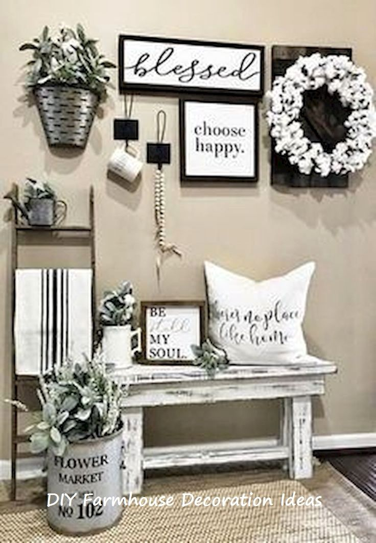 44 Best Diy Farmhouse Style Decorating Ideas Farmhouse Wall Decor Farmhouse Decor Living Room Decor