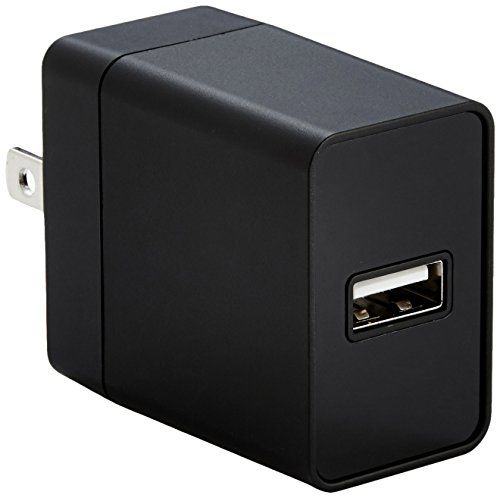 amazonbasics one port usb wall charger 2 4 amp black on usb wall charger id=33286