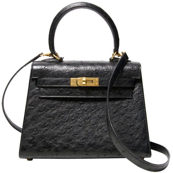 48df51921c57 View this item and discover similar top handle bags for sale at -  Exceptionally rare mini vintage Hermès Kelly bag in ostrich leather.