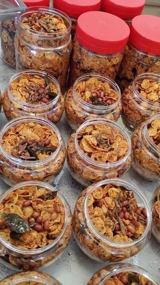 Spicy Cornflakes By Harfa Abdul Karim Snack Recipes Snacks Asian Desserts
