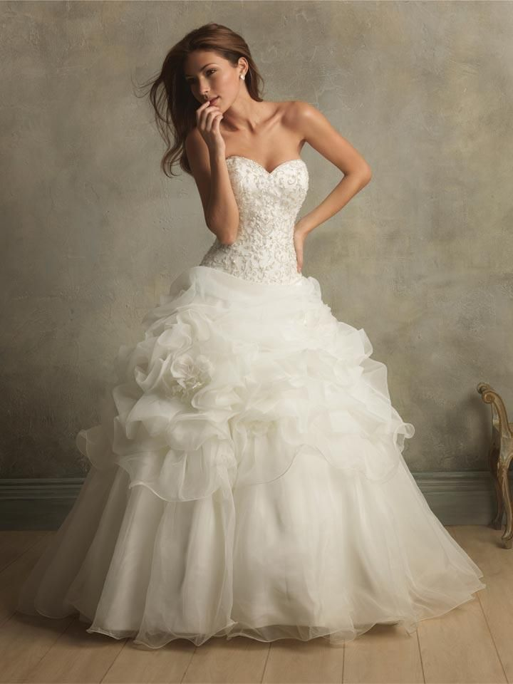 Fl Organza Ball Gown Designer Vintage Wedding Dresses