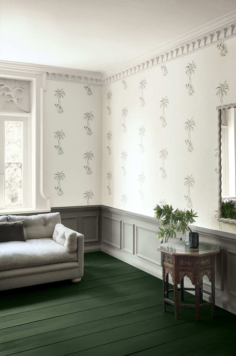 Tree Design Wallpaper Living Room: Paint And Paper Library, Living