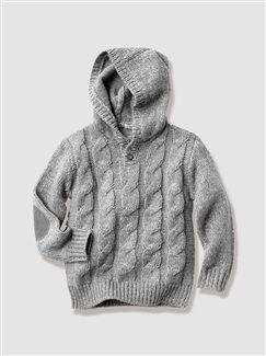 Pull garçon à capuche - vertbaudet enfant   Modeles tricot   Pinterest 03a6189cd1f