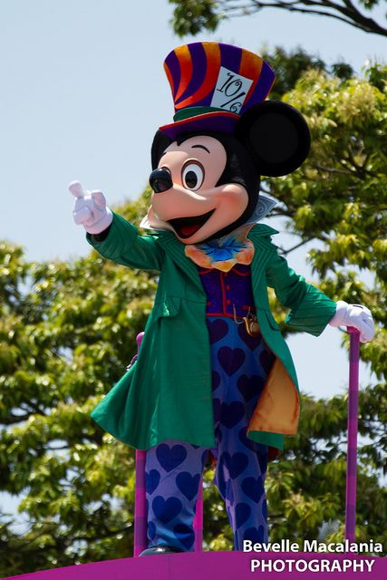 Mickey Mouse as the mad hatter