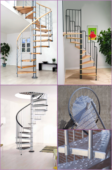 With Both Classic And Contemporary Spiral Staircases Available In Kit Form,  We Have Spiral Stairs For Every Need.