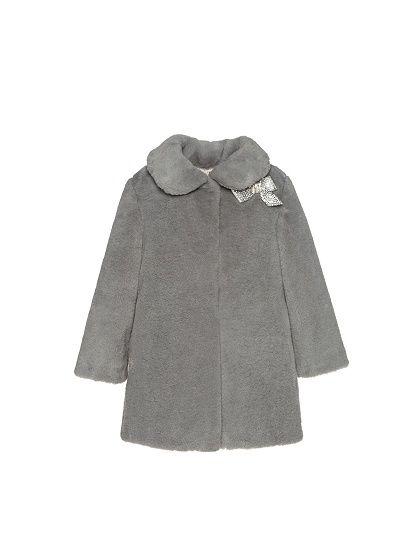 Abrigo gris pelo nina