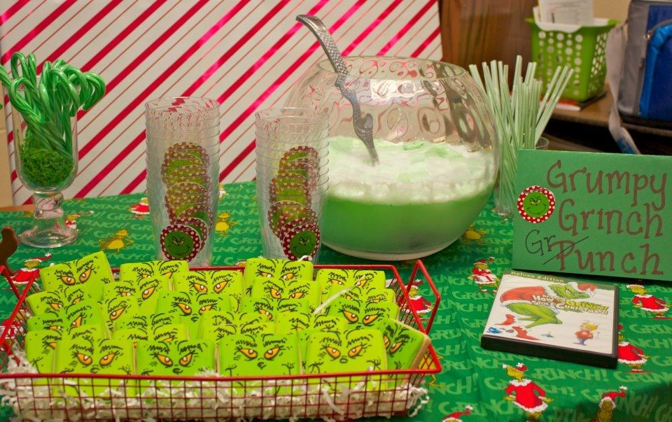 Grinch Christmas snack