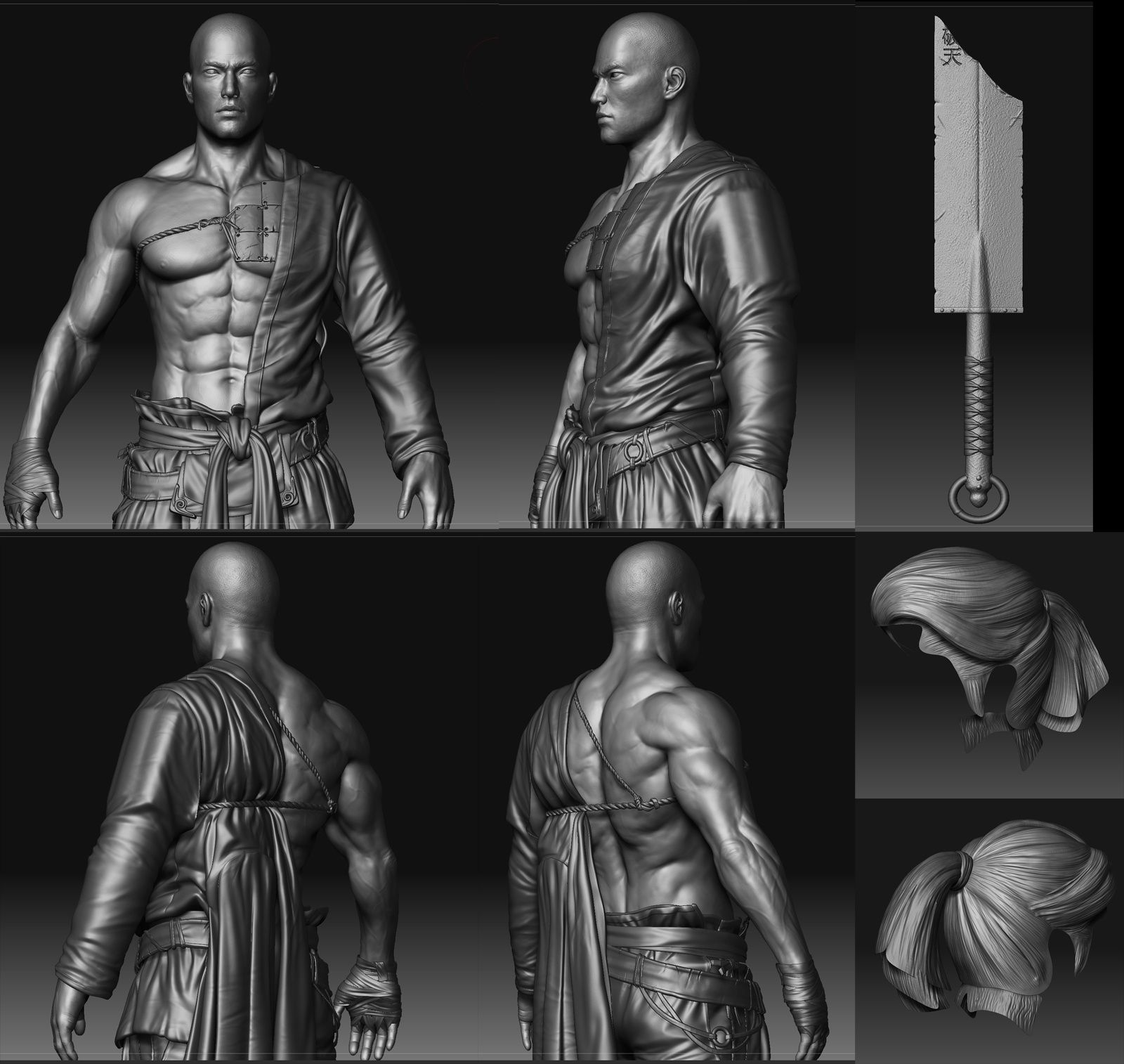 Cmivfx Zbrush Character Concept Design : Ki yong sim blade master zbrush d character design