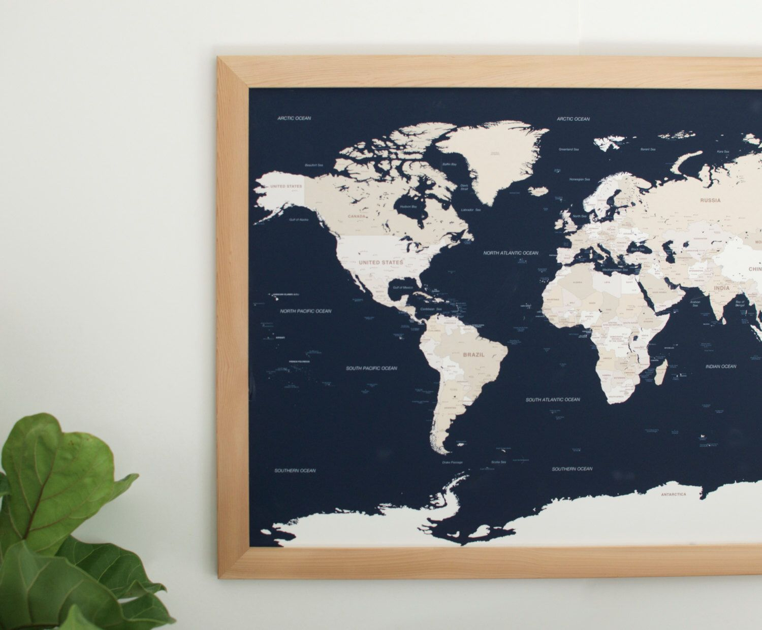 Push pin travel map navy blue world map push pin map push pin travel map navy blue world map push pin map handcrafted wood frame wedding anniversary gift christmas gifts for mom gumiabroncs Choice Image