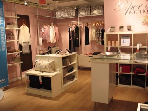 Clothing Store Design With Ikea Furniture