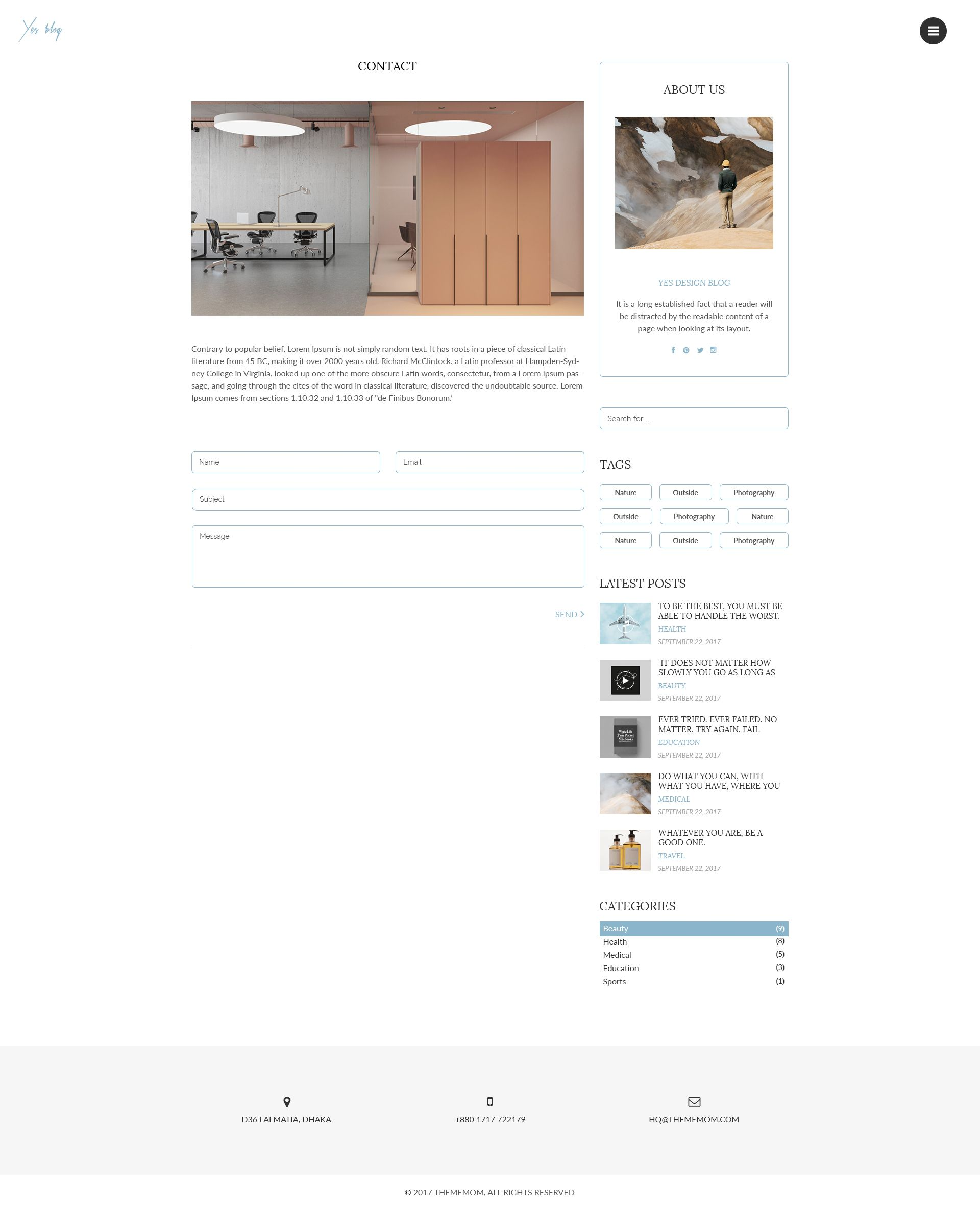 Minimal Blog Design Psd Template Minimal