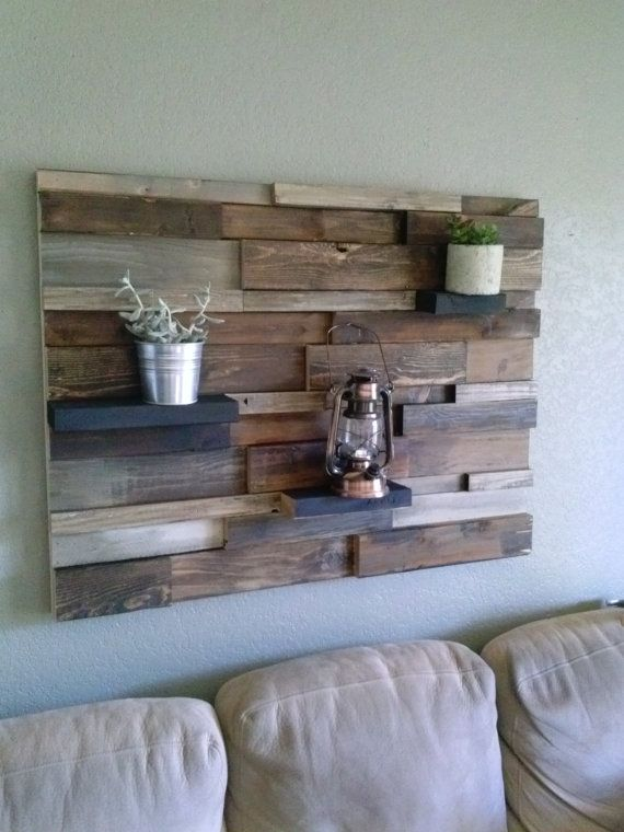 Reclaimed Rustic Wood Wall Decor By Craftsmanjeff On Etsy 250 00 Tv Wall Upstairs Rustic Wood Wall Decor Wood Wall Decor Rustic Wood Walls